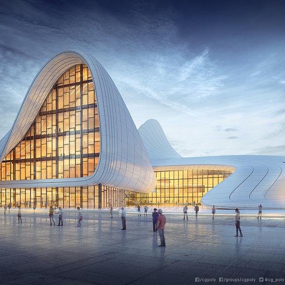 Heydar Aliyev Center 3D Model 3D model