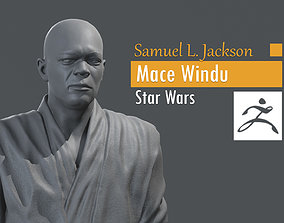 3D print model Samuel L Jackson - Mace Windu - Star Wars