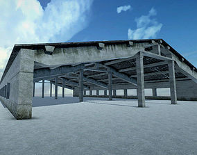 Farmhouse Ruined 3D asset
