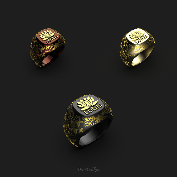 Luxury Lotus Ring