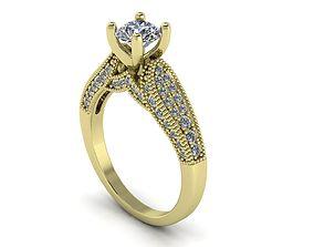 3D print model Unique Diamond Engagement Ring 165