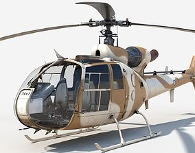 Helicopter Gazelle Sandy 3D asset