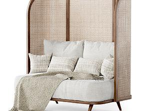 Two-seater garden sofa CV22 High back 3D