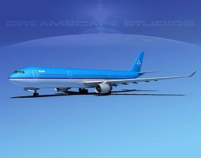 Airbus A330-300 KLM 3D