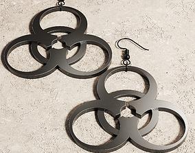 Biohazard Earrings Pendant Jewelry 3D printable model