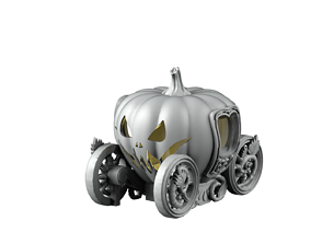 3D print model Pumpkin Wagon