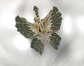 3D printable model Butterfly Pendant art