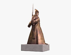 3D Red Guard Soldier Sculpture