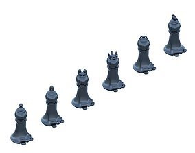 stylized chess pieces for 3d printing