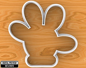 Mickey or Minnie Mouse Hand Cookie 3D printable model