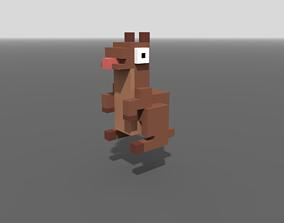 3D model Voxel Kangaroo