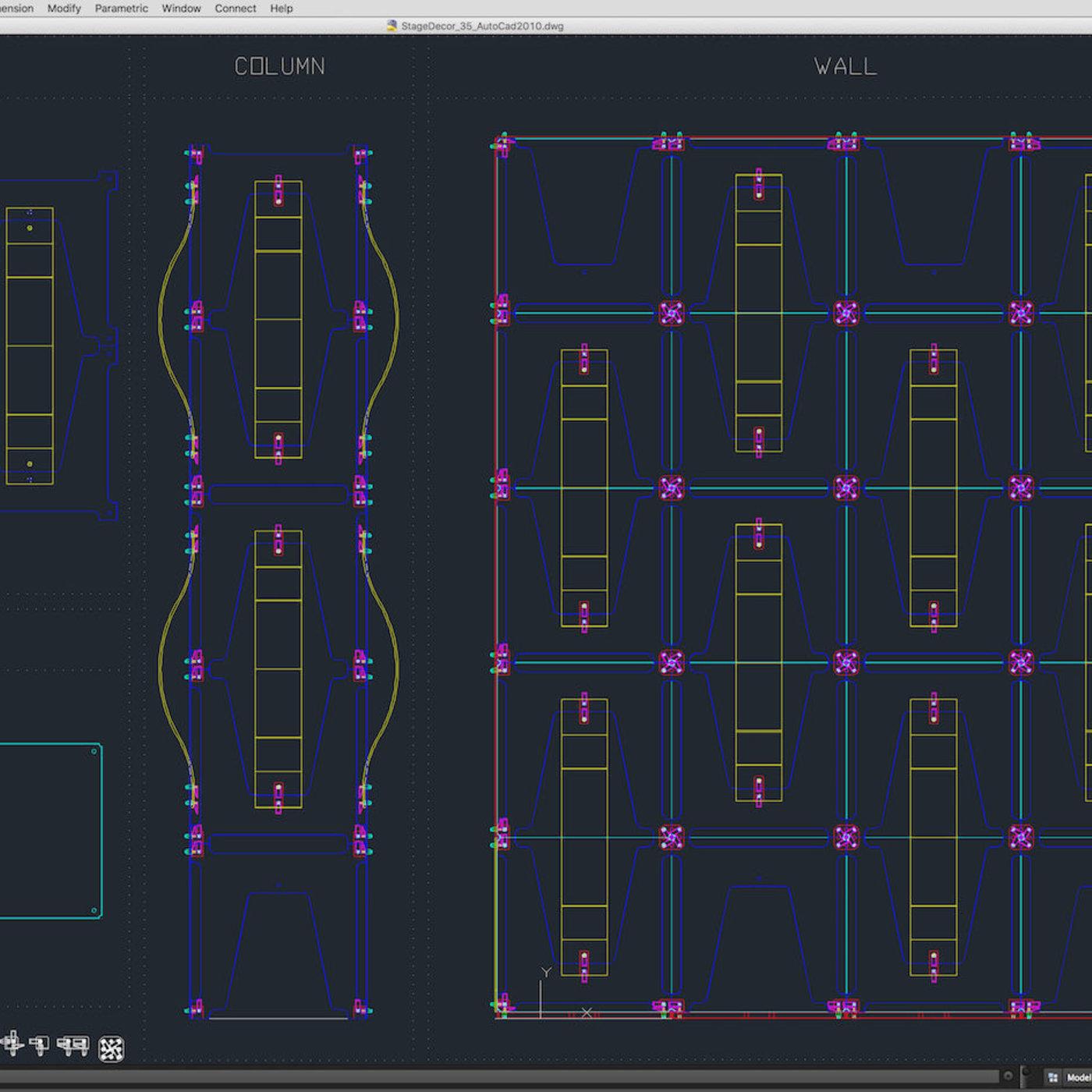 Stage Decor 35 Modular Wall Column