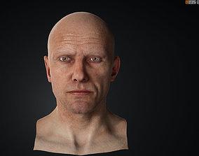 High quality male head 3D asset VR / AR ready