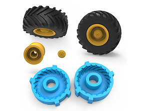 Tractor Tire Mold 3D printable model