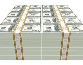 One Million Dollars 3D asset low-poly