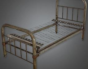 Metal Bed Frame Antiques - ATQ - PBR Game Ready 3D asset