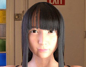 game-ready Realistic Japanese Girl 3D model