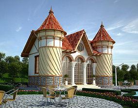 Medieval House 3D asset VR / AR ready firewood