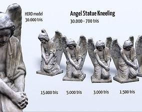 3D asset Angel Statue Kneeling HD