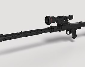 Stormtrooper Heavy Blaster Rifle DLT-19X from 3D model 1