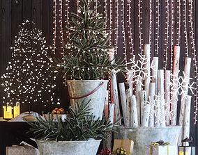 3D model Christmas decor set