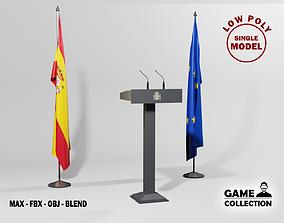 3D asset Spanish Presidential podium
