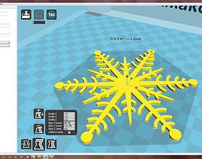 christma-ball 3D printable model Snowflake