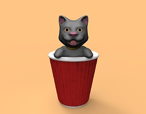 3D printable model Coffee cat