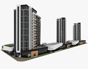Residential Building 3D model house appartment
