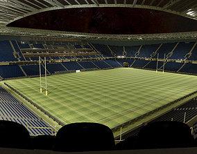 3D asset Rugby Stadium