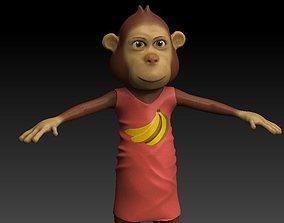 Monkey mom 3D model
