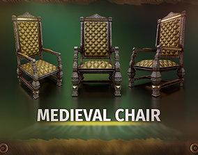 3D asset C2 - Medieval Chair 2