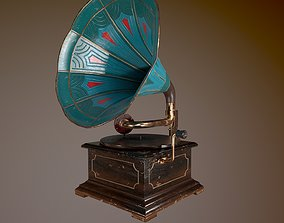 3D asset Gramophone LowPoly PBR GameReady Unity Unreal