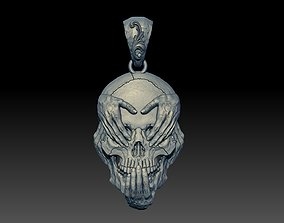 SKULL see no evil pendant 3D print model
