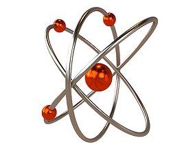 3D model Cartoon Atom v2 002