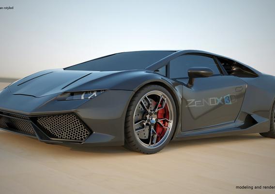 Lamborghini Huracan restyled rendering project