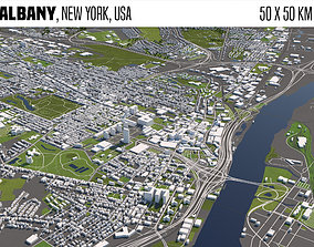 3D Albany New York USA 50x50km