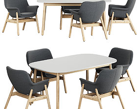 VEDBO Table Chair 3D model