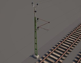 railway and overhead lines industrial 3D model