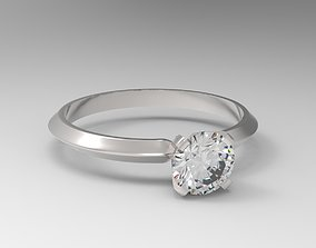Engagement solitaire ring Tiffany type 3D print model