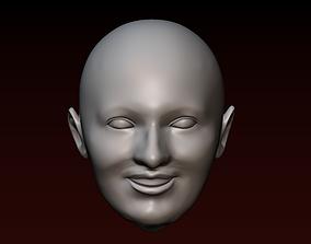 Male head 21 Man head - Young bald guy 3D printable model