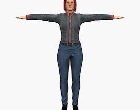 Police Female 3D model