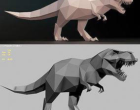 3D model Trex lowpoly