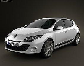 3D model Renault Megane hatchback 2011