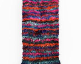 Turkish Shaggy Fur Rug 3D model