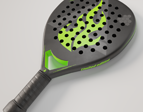 Paddle racket 3D asset