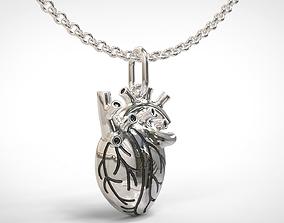 Human heart pendant 3D printable model