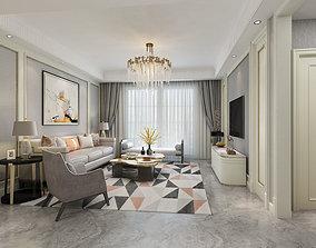 3D model Modern European living room