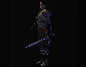 Swordsman 3D model rigged