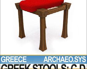 3D Greek Stools Set C D